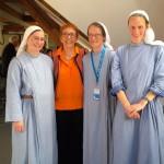 """Ein sehr schönes Foto vom Kirchentag. Die drei Odensschwestern sind Fans meines Buches """"Tante Semra im Leberkäseland"""" und waren extra zu der Veranstaltung gekommen!"""